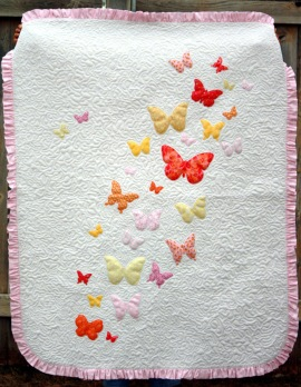 Butterflies A Flutter baby quilt