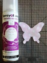 SpraynBond butterfly quilt